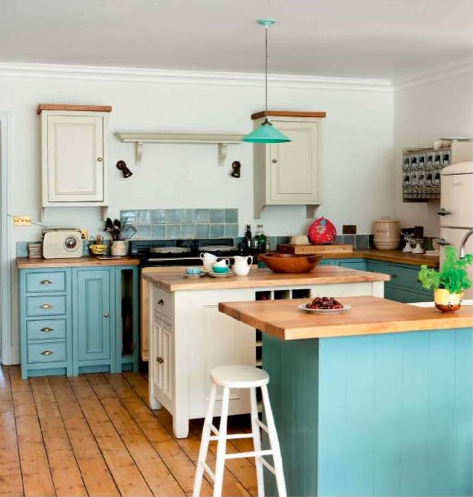 Kitchen Island Ideas Tiffany Blue